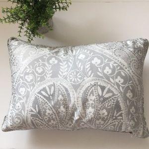 TAHARI HOME gray accent lumbar pillow